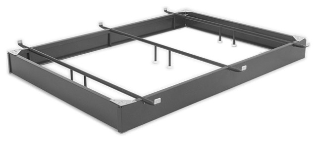 "Hotel Style Steel 7.5"" Hospitality Metal Bed Base."