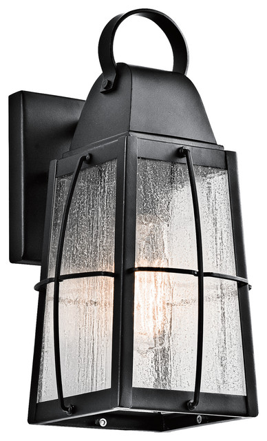 Kichler Lighting 49552bkt Tolerand Textured Black Outdoor Wall Sconce, Small.