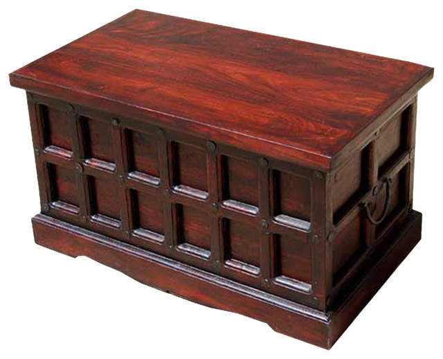 Beaufort Solid Wood Storage Chest Trunk Box Coffee Table Traditional Decorative Trunks By