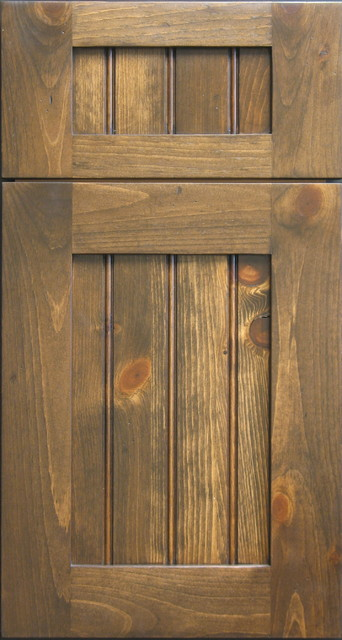 Knotty Pine Shaker Door With Beaded Panel Rustic Vancouver By