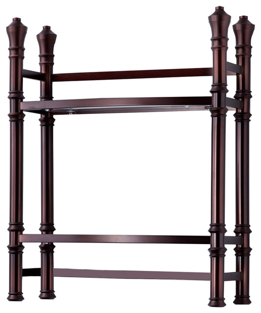 Monaco small etagere transitional towel racks stands for Small bathroom etagere