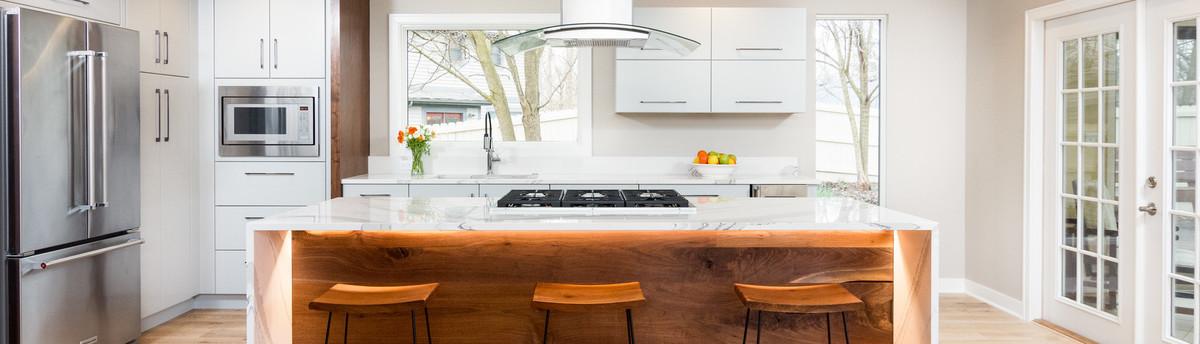 Modern Custom Wood Kitchen Remodel In Ann Arbor Mi