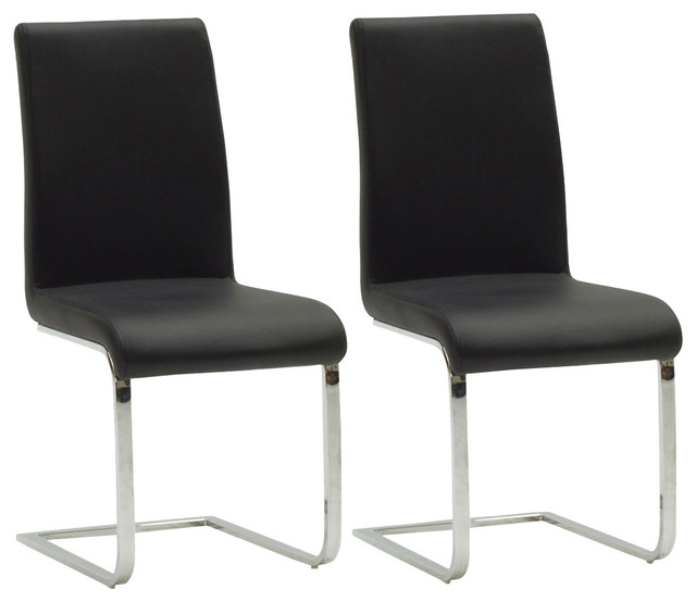 Leatherette Mobo Dining Chair Set Of 2 Modern