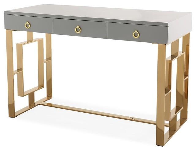 Audrey Gray Lacquer Desk