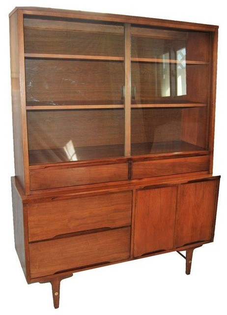 Mid Century China Cabinet Made By Stanley Modern Buffets And Sideboards