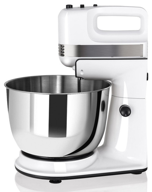 Costway 250W 5-Speed Stand Mixer w/ with Hooks Beaters and Stainless Steel Bowl