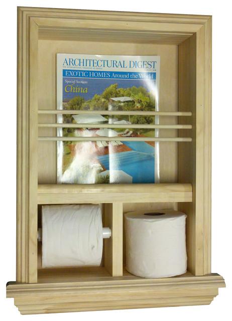 Camarillo Recessed Magazine Rack Toilet Paper Combo Iii