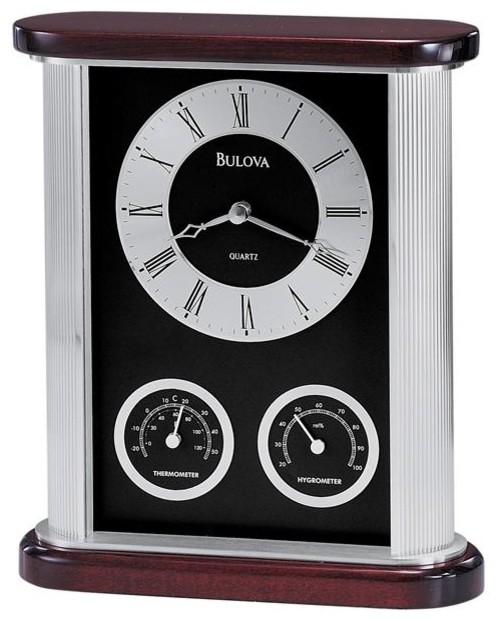 belvedere desk clock with thermometer and hygrometer - Desk Clocks