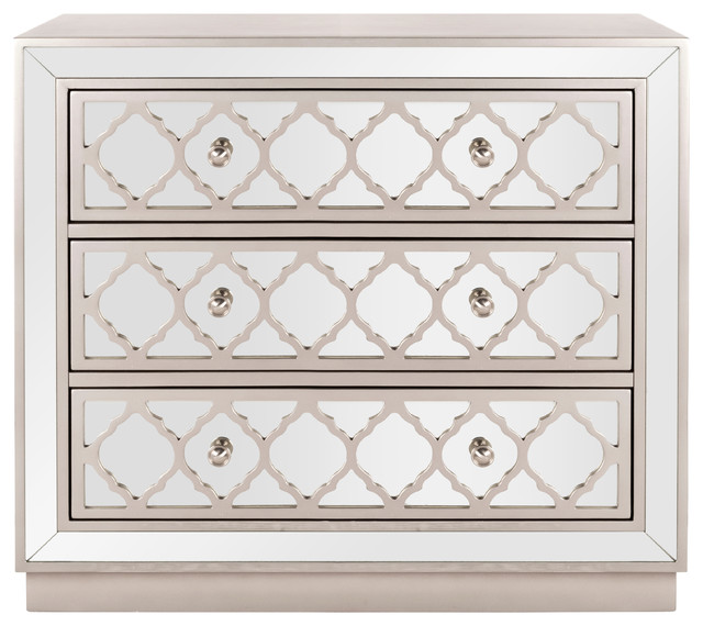 Safavieh Amelia 3 Drawer Chest Mediterranean Accent Chests And Cabinets By