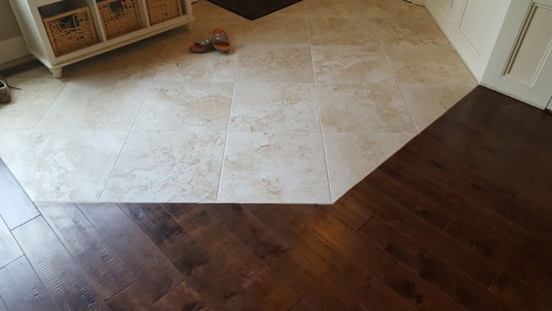 Transition Wood Floor To Tile Ideas: Hard Wood And Tile Transition. Does This Look Bad?