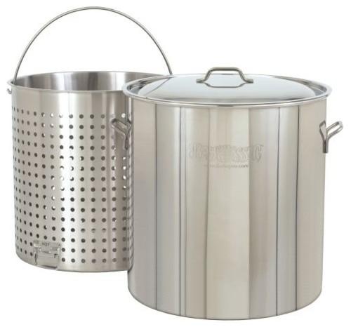 Bayou Classic 162 Quart Stainless Steel Stock Pot Kit.