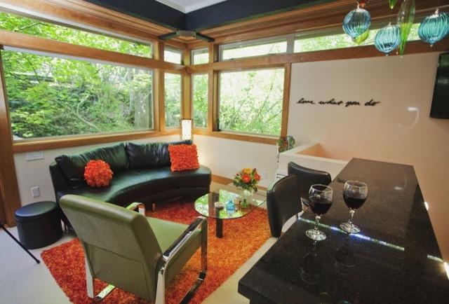 Urban Treehouse DADU modern-living-room