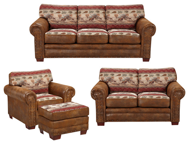 American furniture classics deer valley 4 piece set for 4 piece living room furniture