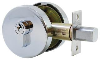Round Deadbolt, Key/Knob - Contemporary - Door Locks - by Jako ...