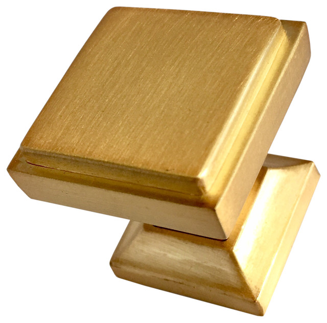 Southern Hills Satin Gold Square Cabinet Knobs, Pack Of 5