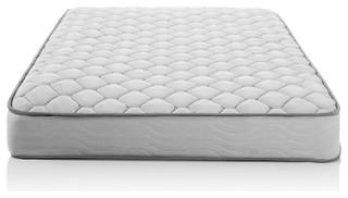 "Full 6"" Medium Firm Innerspring Mattress With Foam Cushion Comfort Layer"
