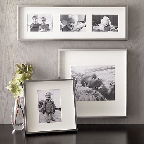 Brushed Silver Wall Frames contemporary frames