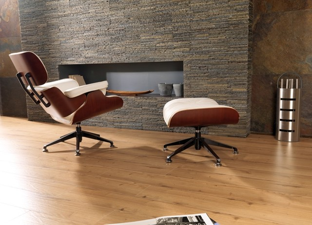 Porcelanosa laminate roble rustico   modern   living room   by ...