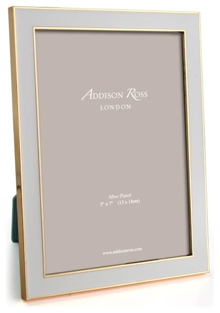 Addison Ross Chiffon Gold Plate Enamel Frames 4x6