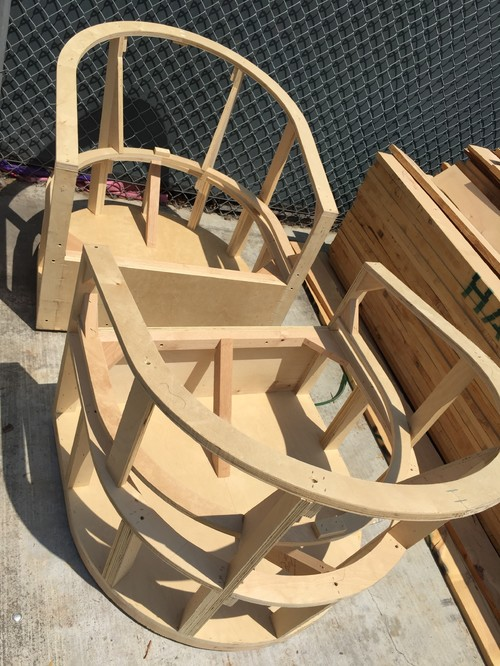 Custom Swivel Chair Frames Delivered To Upholstery Shop U0026 Ready To Get All  Covered In Pretty For My Awesome Redondo Beach, California, Client Diane