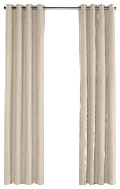 loom decor beige pinstripe grommet curtain curtains houzz