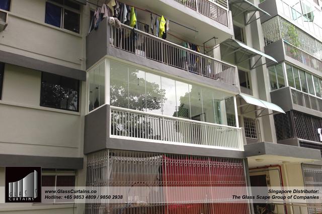 Balcony glass curtain singapore curtain menzilperde net for Balcony design ideas malaysia