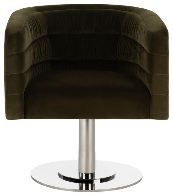Remarkable Studio Seven Marie Velvet Swivel Tub Chair Olive Steel Ibusinesslaw Wood Chair Design Ideas Ibusinesslaworg