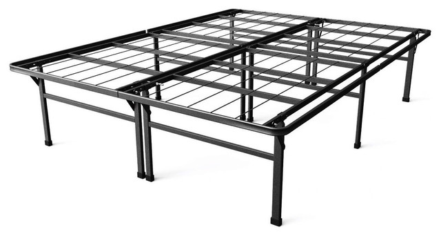 california king size 18 high rise metal platform bed frame traditional bed frames by. Black Bedroom Furniture Sets. Home Design Ideas