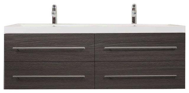 Emotion Persepolis Bathroom Furniture, 144 cm, Grained Anthracite