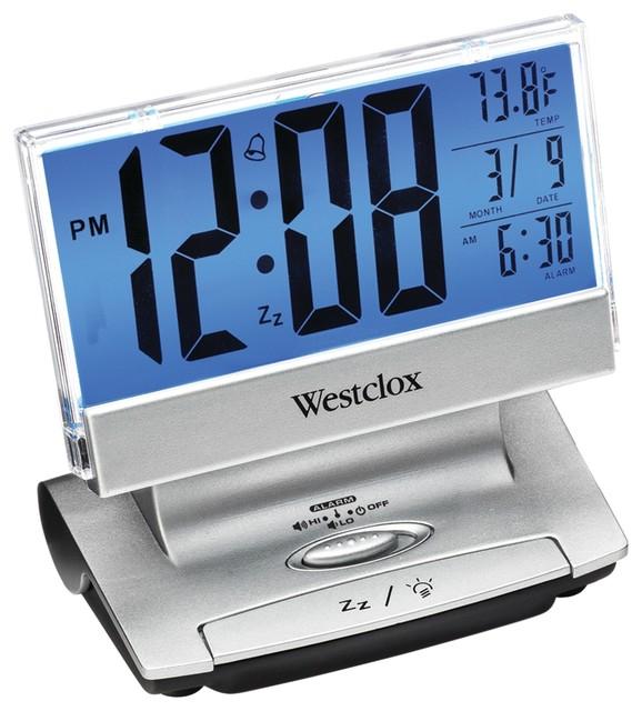 westclox westclox electric lcd display usbcharging alarm clock alarm clocks