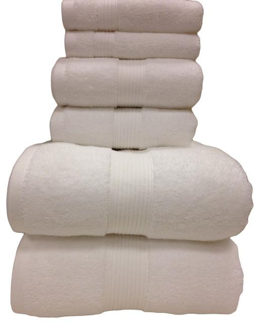 Plush 100% Cotton Towels, Super Soft 6-Piece Bath Towel