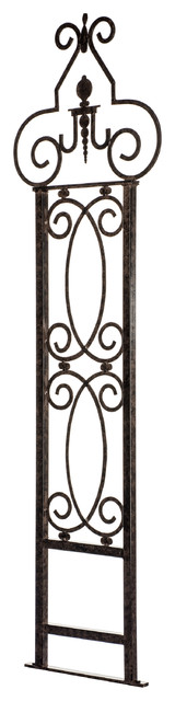 Garden Scroll Trellis, Weather Resistant Wrought Iron.