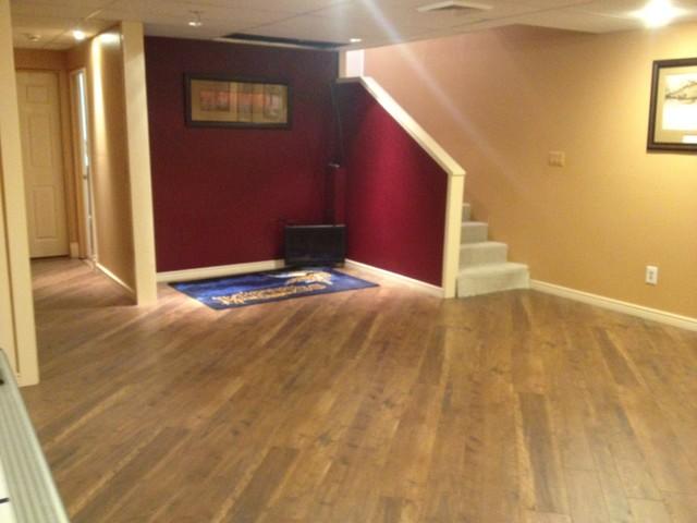 TAS Customer Home - Laminate Basement contemporary-basement
