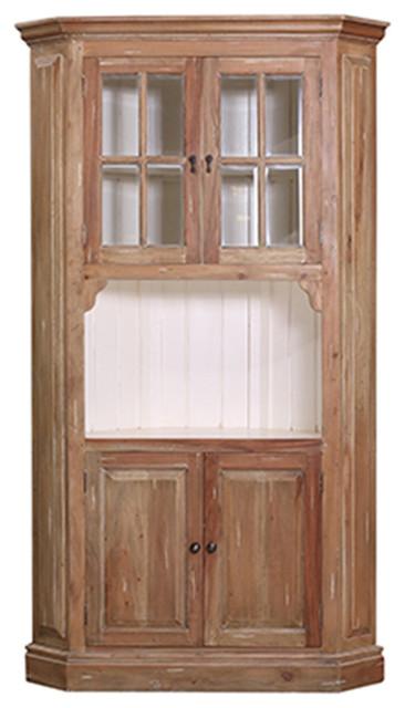 Shop Houzz | Bramble Co. Bramble Cape Cod Corner Hutch Cabinet - China Cabinets And Hutches