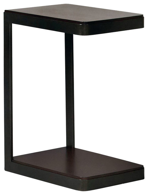 Hammary Hidden Treasures Castered Metal C Table Contemporary Side Tables  And