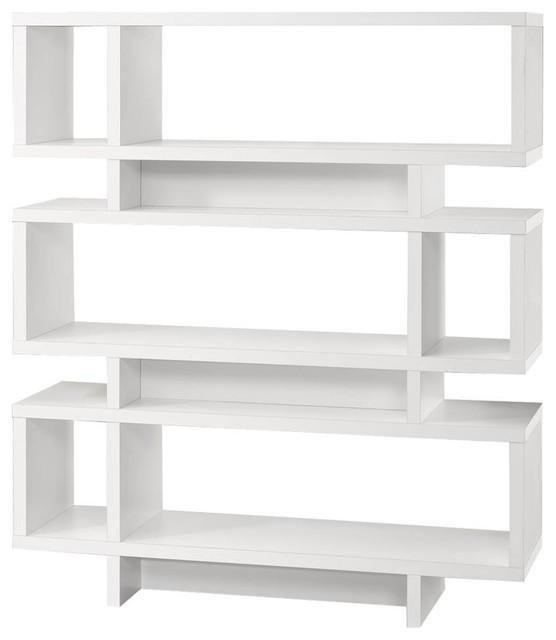 "71"" High Modern Bookcase."