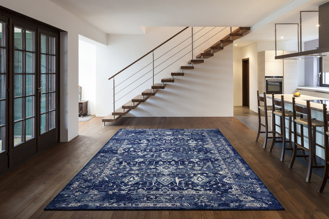 "Frey Blue Marrakesh Area Rug, 7'10""x11'2"""