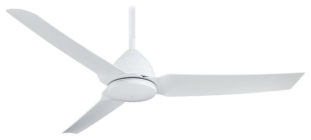 "Minka Aire Java Flat White 54"" Outdoor Ceiling Fan."
