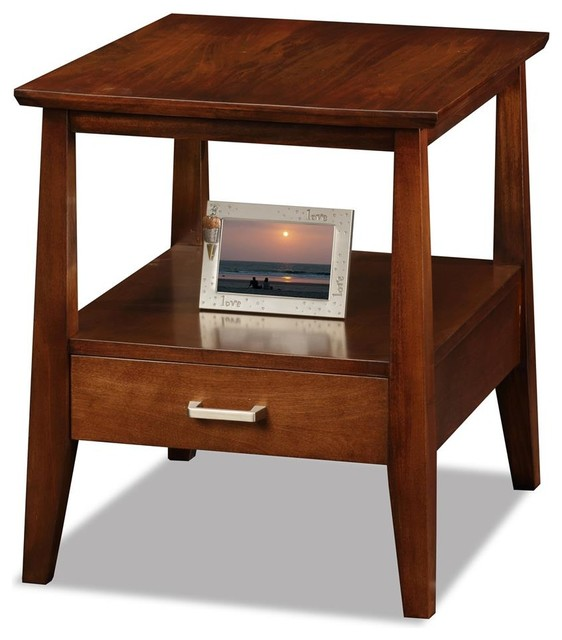 End Table With Drawer Contemporary Side Tables And End Tables By Shopladder