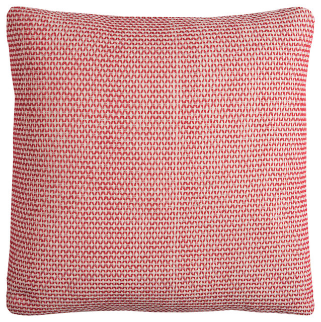 Rizzy Home Pilt11769reiv2222 One Of A Kind Solid Decorative Pillow Red