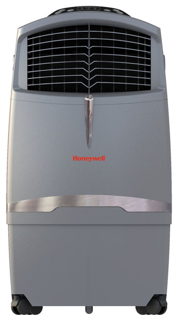 525 Cfm, Indoor/outdoor Evaporative Air Cooler, Remote Control, Gray.