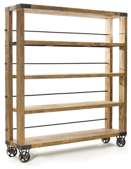 Rolling Study Bookcase