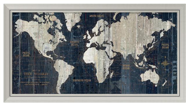 Wild apple portfolio old world map blue framed art print 43x23 wild apple portfolio old world map blue framed art print gumiabroncs Choice Image