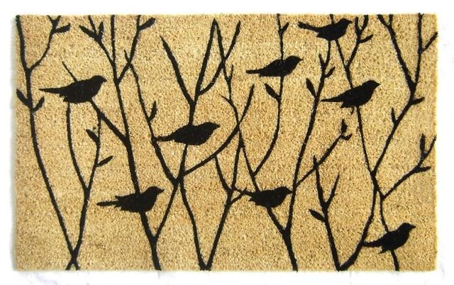 Birds On Branches Doormat Contemporary Doormats By