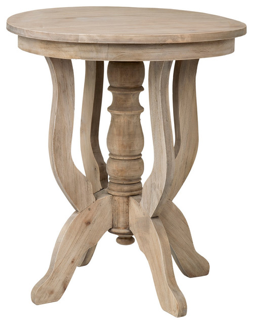 East At Main&x27;s Boyd Brown Rubberwood Round Accent Table.