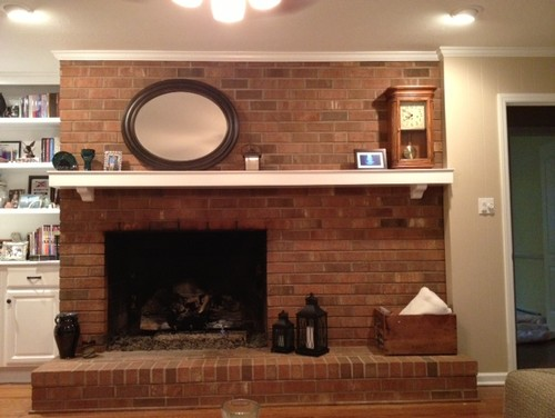 Off Centered Fireplace...Please Help!!