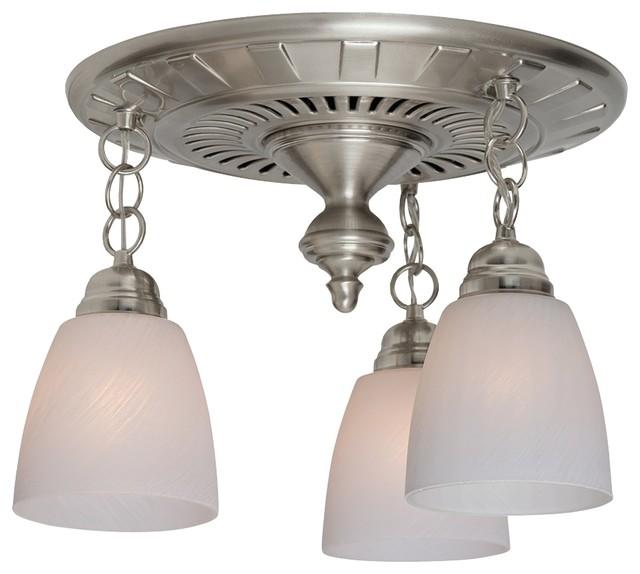 The Garden District 70cfm Ceiling-Exhaust Bath Fan In Brushed Nickel.
