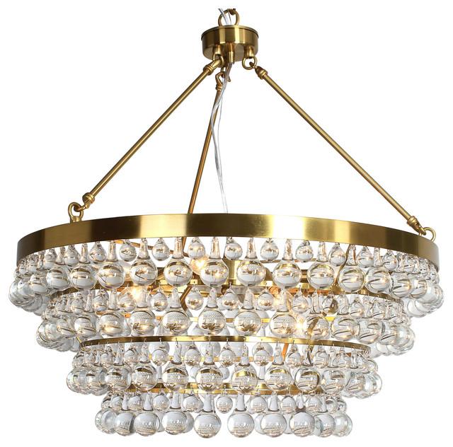 Heidi 8 Light Golden 4 Rings Crystal Chandelier K9 Aaa