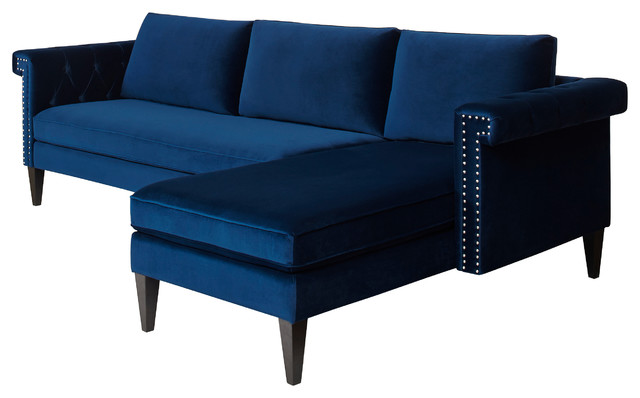 nathaniel reversible sectional sofa navy blue modern sectional sofas
