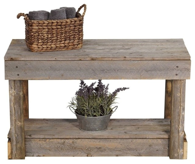 Superb Barnwood Entry Bench Natural Gmtry Best Dining Table And Chair Ideas Images Gmtryco